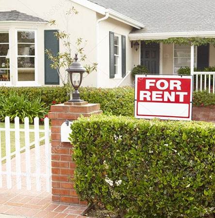 Front of Home with For Rent Sign with Landlord Insurance in Paso Robles, CA